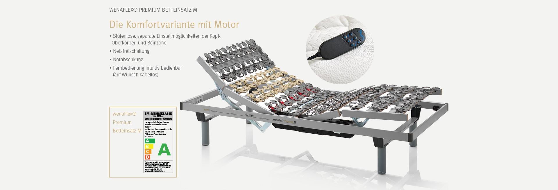 Der wenaFlex® Premium Betteinsatz | Der Komfort-Lattenrost mit Motor