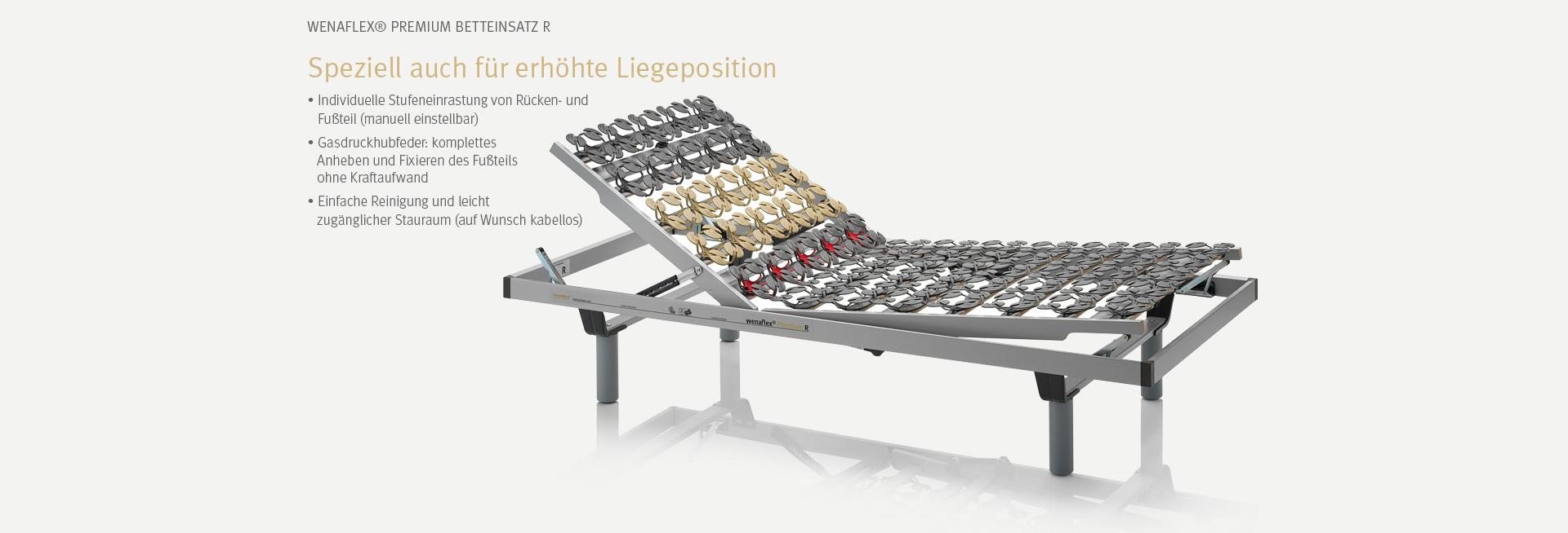 Der wenaFlex® Premium Betteinsatz R | Speziell auch für erhöhte Liegepositionen