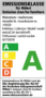 Emissionslabel der Deutsche Gütegemeinschaft Möbel e.V. für Wenatex Matratze