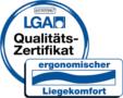 """Zertifikat """"ergonomischer Liegekomfort"""" der TÜV Rheinland Products GmbH für Wenatex Matratze"""