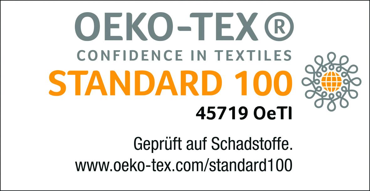 OEKO-TEX® Standard 100 Zertifikat bescheinigt Wenatex-Produkten höchstmögliche Schadstofffreiheit