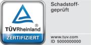 Zertifikat Schadstoffgeprüft der TÜV Rheinland Products GmbH für Wenatex Produkte