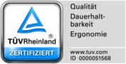 Zertifikat für Qualität, Dauerhaltbarkeit und Ergonomie der TÜV Rheinland Products GmbH für Wenatex Matratze