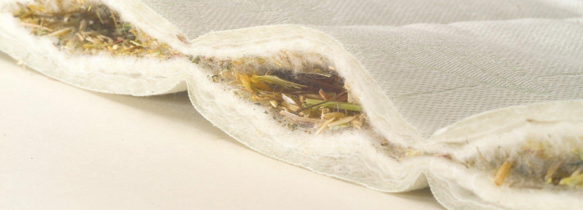 Detailansicht der Alpenkräuter in der wenatex® Alpenkräuter-Regenerationseinlage