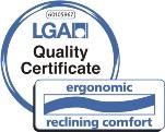 Certificato Comfort d'appoggio ergonomico della TÜV Rheinland LGA Products GmbH