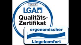 """Zertifikat """"ergonomischer Liegekomfort"""" der TÜV Rheinland Products GmbH für Wenatex Produkte"""