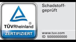 TÜVRheinland Zertifikat schadstoffgeprüft für Wenatex Produkte
