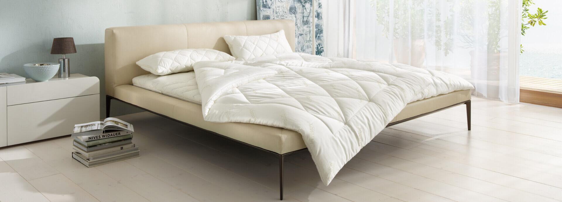 Bett mit dem wenaCel® sensitve Schlafsystem von Wenatex