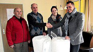 wenatex spendet Matratze an Rotes Kreuz