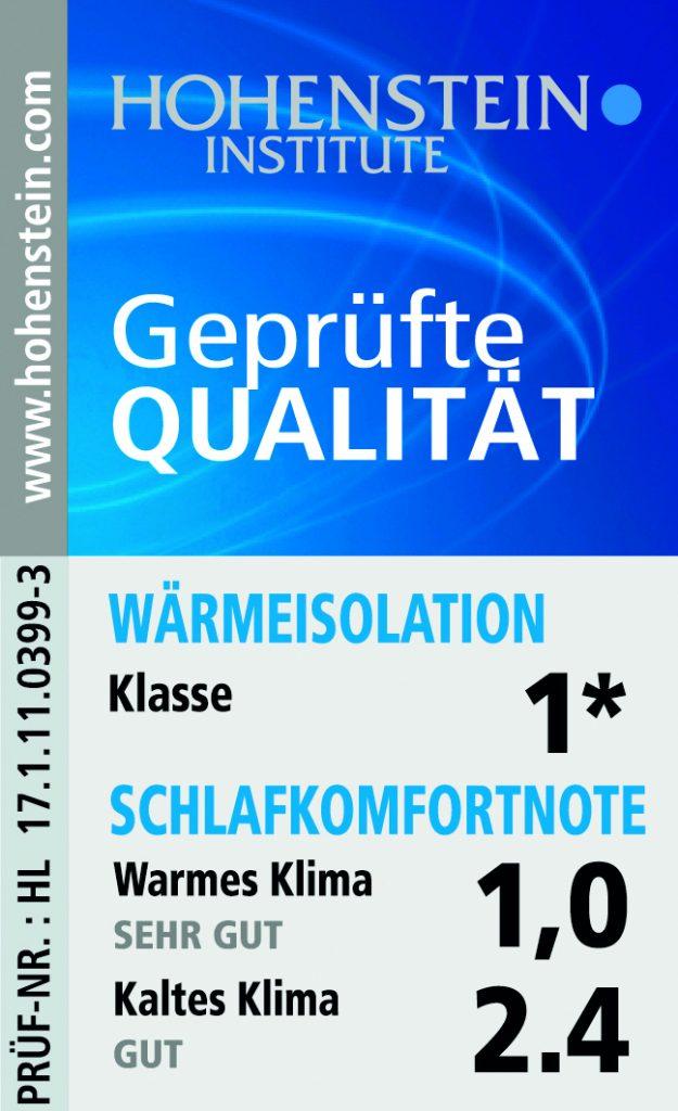 wenatex gepruefte qualitaet hohentstein institute