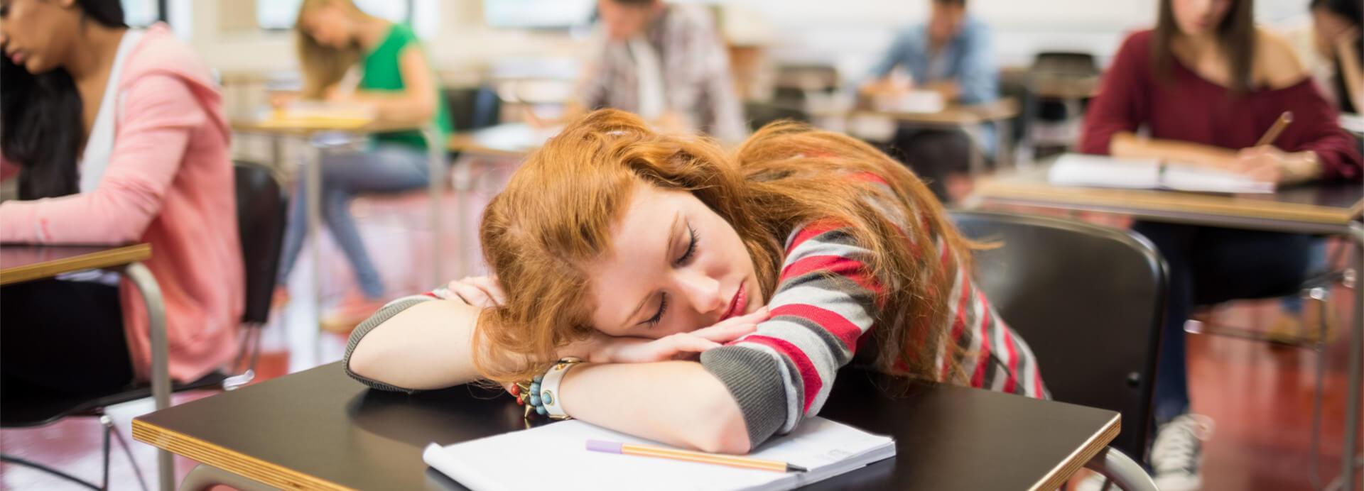 Schlafen Schule