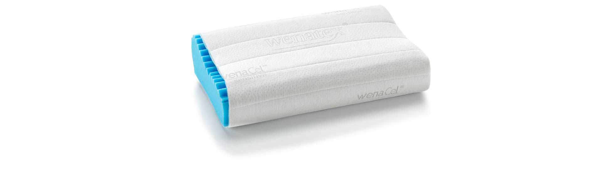 Cuscini Wenatex.Wenacel Sensitive Orthopaedic Pillow Ergonomic Design For